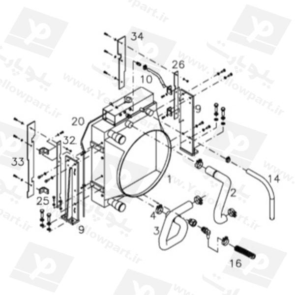 مجموعه نصب رادیاتور HCD100C