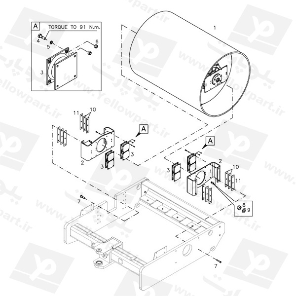 مجموعه نصب رول (لنگری پیچی) HC100C