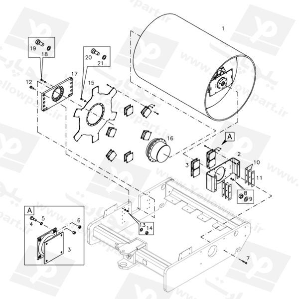 مجموعه نصب رول (لنگری پیچی) HCD100C