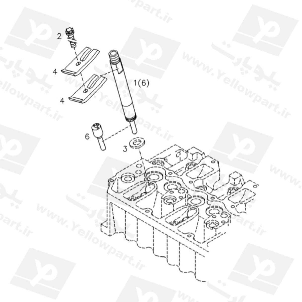 مجموعه سوزن انژکتور HG180D1